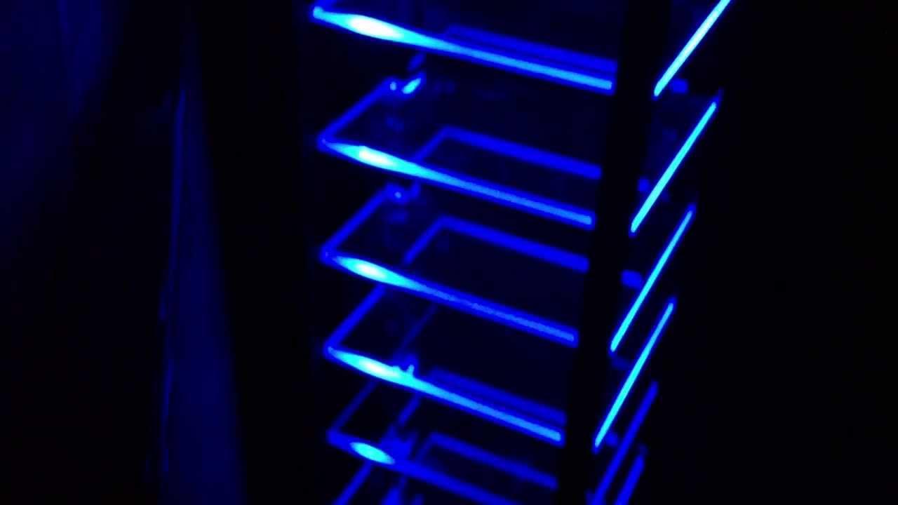 a sonos custom led backlit rack by sonic interiors youtube