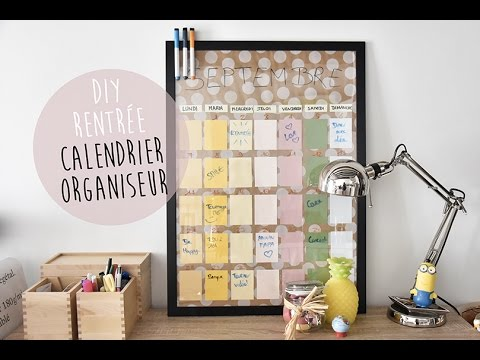 Diy de la rentr e calendrier organisateur back to for Calendrier photo mural gratuit