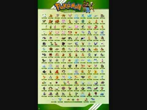 all 150 original pokemon