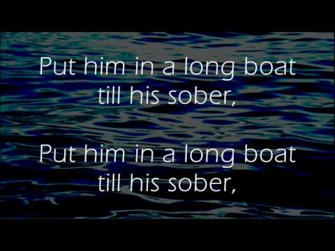 Drunken Sailor  Irish Rovers  Lyrics ,