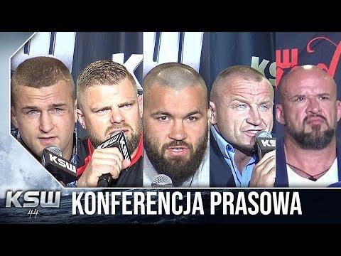 KSW 44: Cała konferencja prasowa z udziałem Stracha, Pudziana i Materli