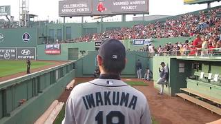 Hisashi Iwakuma  岩隈 久志 Bullpen- Fenway Park July 31, 2013. WWW.BULLPENVIDEOS.COM