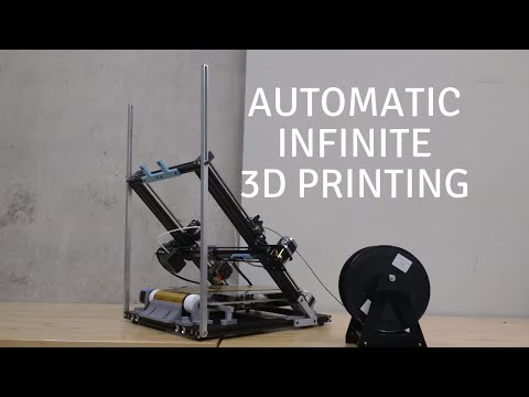 Automatic Infinite 3D Printing: Democratize Manufacturing - Conveyor Belt 3D Printer - Mk. IV