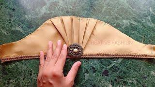 Beautiful Traditional look Sleeve cutting.