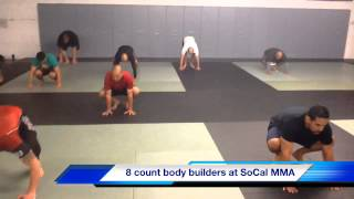8 count bodybuilder training at socal mma and fitn