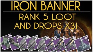 Repeat youtube video destiny iron banner loot all drops and rank 5