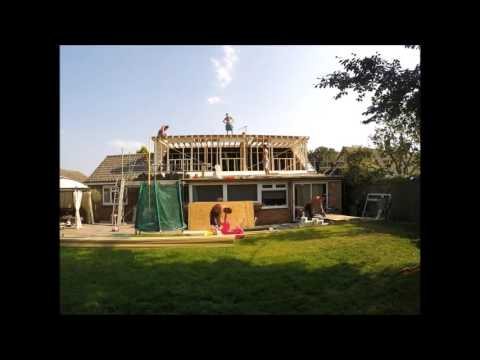 Time lapse - flat roof dormer day