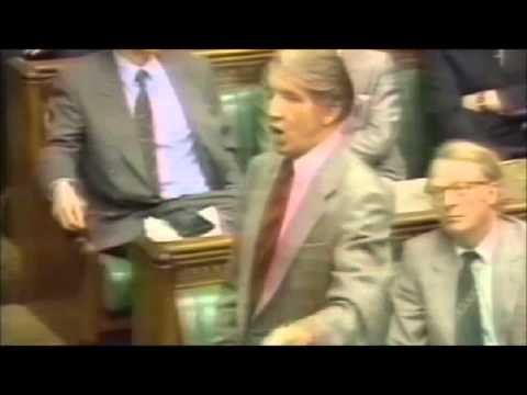 Dennis Skinner. Old Footage of him being asked to leave the House of Commons back in the early 1990s
