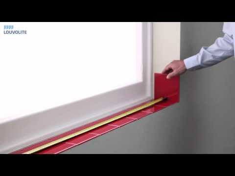 How to Measure & Fit Pleated Blinds - Inside the Recess - By Louvolite