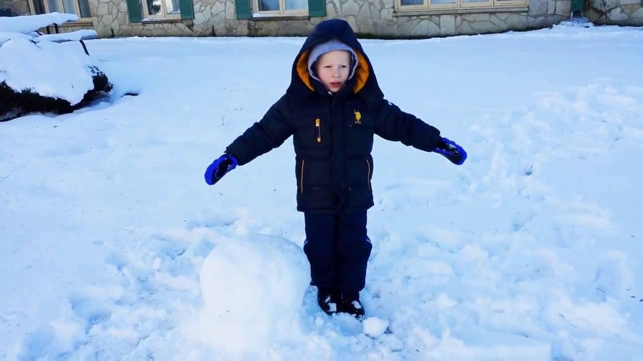 Делаем снеговика, Как слепить снеговика