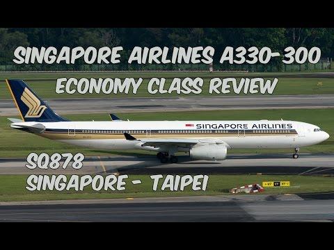Singapore Airlines Economy Class Review: SQ878 Singapore to Taipei