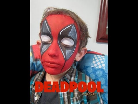 Holiday Party Deadpool Face Painting Youtube