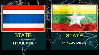 THAILAND VS MYANMAR -  Military Power Comparsion.