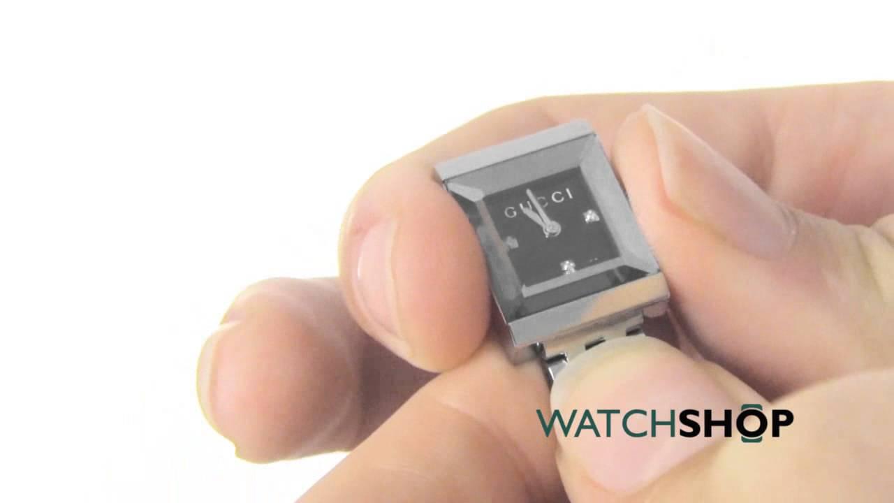 abe2a18b698 Gucci Ladies  G-Frame Diamond Watch (YA128507) - YouTube