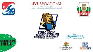 EUBC U15 European Boxing Championships ALBENA 2018 Day 4 Ring B 25052018 1400