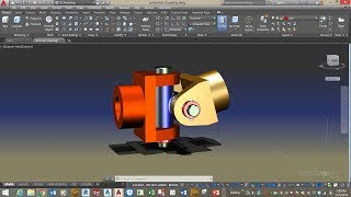 Mechanical 3D modeling-Universal Coupling in AutoCAD 2018 ( assemble parts)
