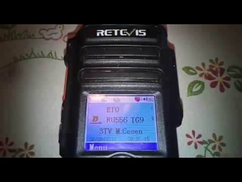 How to switch channels to the VFO with the headset of Radio Retevis RT82.