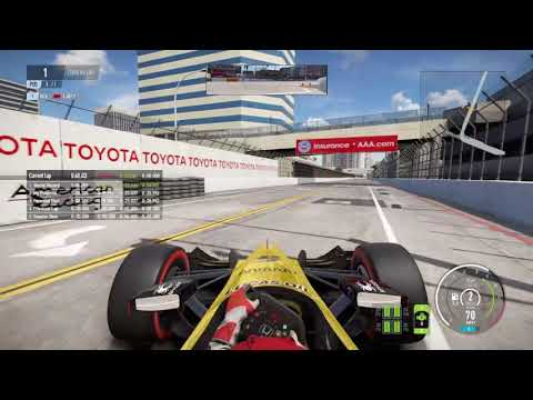 LONG BEACH HOTLAP - IndyCar - Project Cars 2 Gameplay