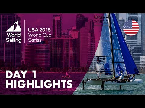Day 1 Highlights  Sailing's World Cup Series  Miami, USA 2018