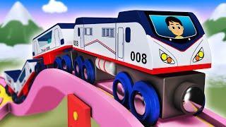 Kids Video For Kids - Toy Factory Cartoon Train Videos for Children Choo Choo Train