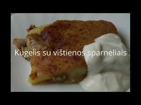 Kugelis Bulvių Plokstainis Su Vistienos Sparneliais Youtube