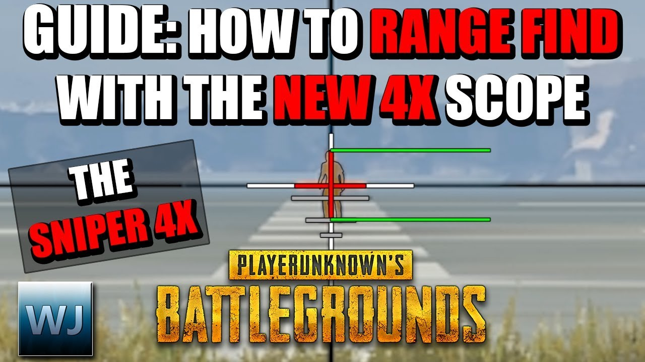 Download GUIDE: How to RANGE FIND with the NEW 4X SCOPE (THE SNIPER 4X) in PUBG