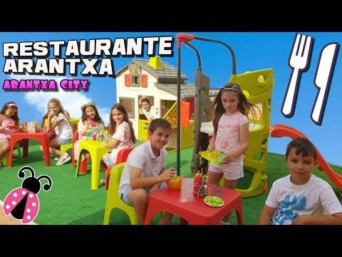 Arantxa City 🏡 Nuevo restaurante en mi ciudad de juguete - Los juguetes de Arantxa