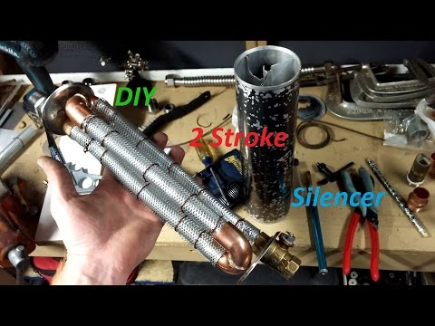 16 Honda PA50II Hobbit Hot Rod DIY Silencer To Quiet This 2 Stroke Down Without Restriction