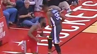 Kevin Durant ELBOWED By James Harden in the Stomach! Warriors vs Rockets