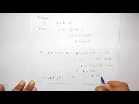 Boolean Algebra Theorems | Postulates & Theorems |