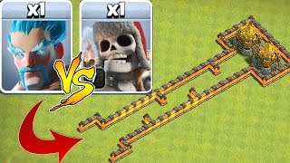 "WHO IS FASTER!?! ""Clash Of Clans""GOLD RUSH TROLL BASE!!"