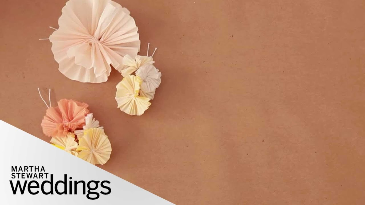 Crpe paper floral wedding craft diy weddings martha stewart crpe paper floral wedding craft diy weddings martha stewart weddings youtube dhlflorist Images