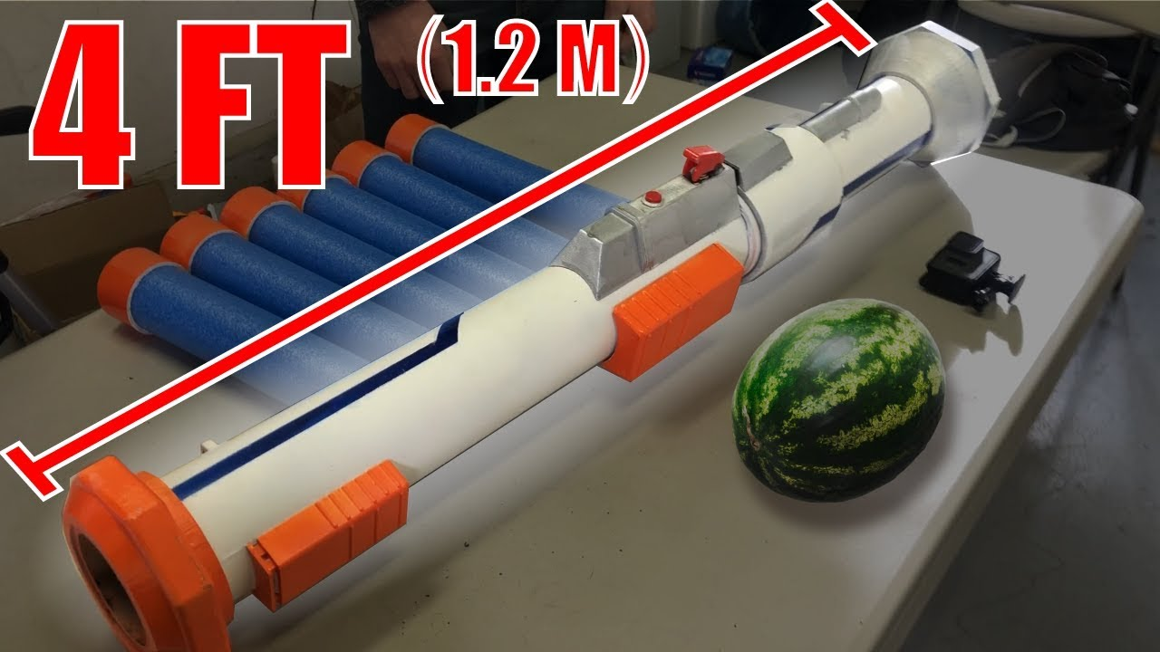 NERF Rocket Launcher!! - YouTube