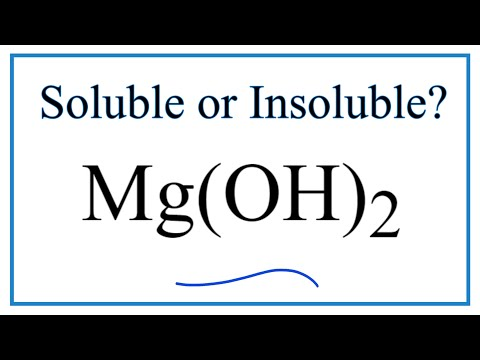 Is Mg(OH)2 Soluble Or Insoluble In Water?