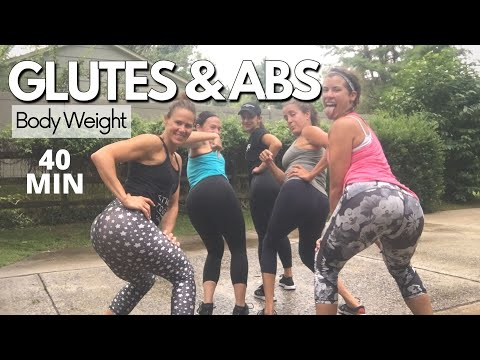 40 Min GLUTES & ABS Workout at HOME | No Repeat No Equipment