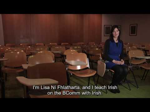 Lisa Ní Fhlatharta  - B.Comm Le Gaeilge   Ollscoil Na Héireann, Gaillimh fotheidil
