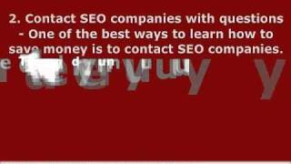 Ways To Save Money On Search Engine Optimization Cost