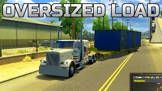 American Truck Simulator- Custom White Peterbilt 389 Hauling Oversize Load!