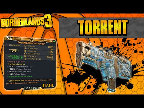 Borderlands 3   Torrent Legendary Weapon Guide (Maximum Fire Rate!)