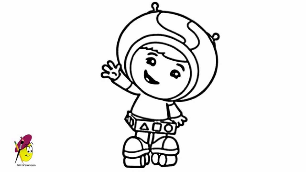 How to draw Team Umizoomi Geo YouTube