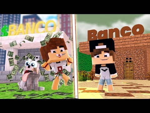 BANCO DE RICO vs POBRE NO MINECRAFT