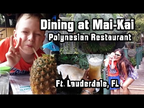 Dining at Mai-Kai Polynesian Themed Restaurant, Fort Lauderdale FL