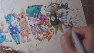 Copic Marker Illustration: Peony (Animal Crossing New Leaf)
