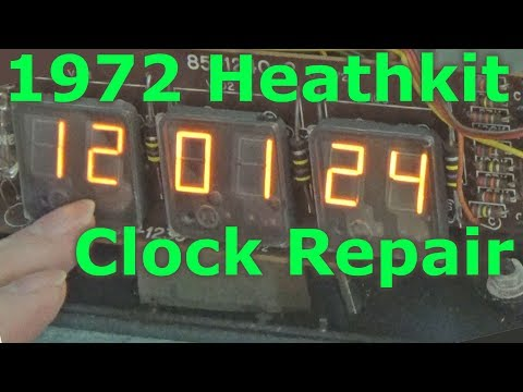 1972 Heathkit GC-1005 Panaplex Clock Repair