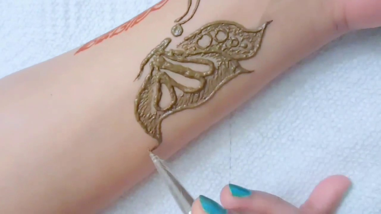 Butterfly Tattoo Mehendi Small Butterfly Design Youtube
