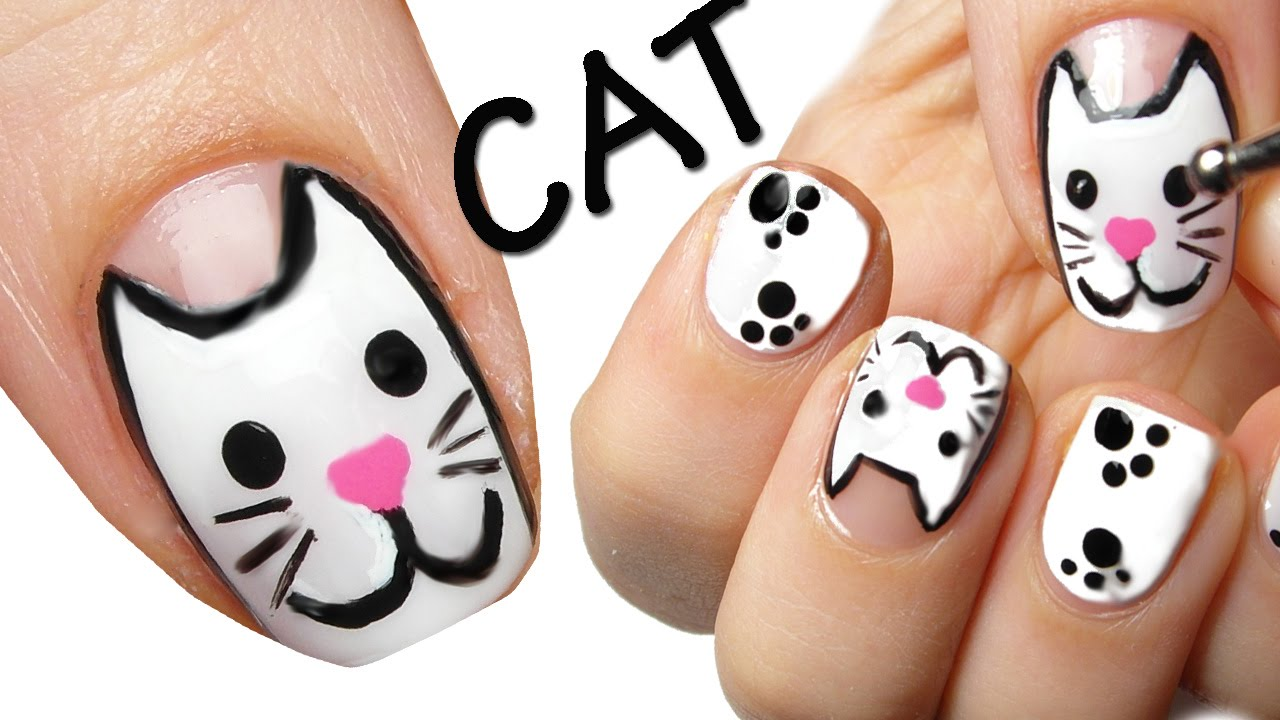 - Cat Nail Art - YouTube