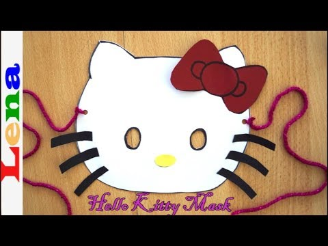 Hello Kitty Maske Basteln