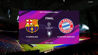 Pes 2020 | barcelona vs bayern munich uefa champions league final full match & goal highlights