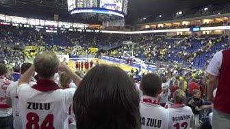 ALBA Berlin 84:91 s.Oliver Baskets Würzburg / 12.05.2012 / PlayOffs / Feiern vor und nach dem Spiel