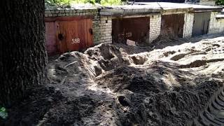 Последствия селя на Дамбе Ульяновск 06.07.2017